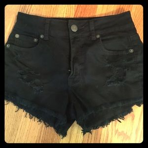 American eagle high waisted black shorts